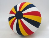 Ball, Beach Ball, Striped Cloth, Red, 1950s+, Cloth, USA